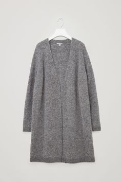 COS image 10 of Mohair and wool cardigan in Grey