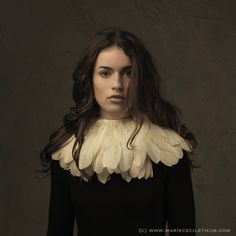 Dutch photographer Marie Cécile Thijs specializes in portraiture. Girl with Feather Collar - 2014 Photography Women, Fine Art Photography, Portrait Photography, Fashion Photography, Inspiring Photography, Baroque Fashion, Fashion Art, Clown Clothes, Clown Outfits