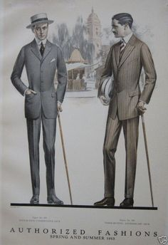 "More men's ""sack suits,"" 1915."