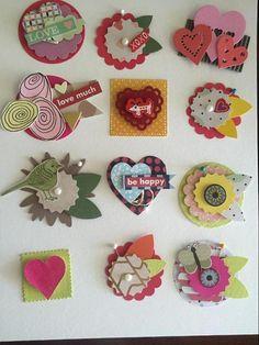 Valentine embellishments | Craftsy