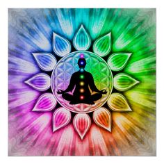 Do a chakra meditation to keep the connection to your soul strong, balanced and grounded. Art Chakra, Chakra Painting, Chakra Symbols, Arte Ganesha, Yoga Kunst, Les Chakras, Healing Meditation, Meditation Space, Hippie Art
