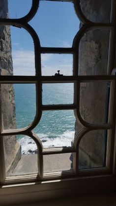 Looking out through window, St Michael's Mount, Cornwall