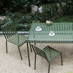 Outdoor Dining Palissade Outdoor Furniture by Hay Denmark Outdoor Furniture Design, Contemporary Furniture, Garden Furniture, Pallet Furniture, Dining Furniture, Outdoor Dining, Outdoor Tables, Outdoor Decor, Dining Table