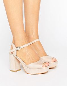On SALE at 30% OFF! Kitten heel Platform Sandal by Truffle Collection. Shoes by Truffle, Faux-suede upper, Ankle-strap fastening, Peep toe, Platform sole, Block heel, Wipe with a damp clot...