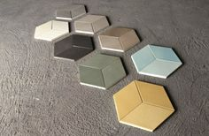 carrelage hexagonal sous la forme de cubes à effet 3D
