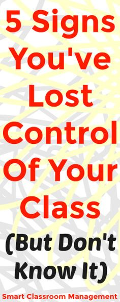 Many teachers are going about each day, struggling through inattentiveness and interruptions, never realizing that they've in fact lost control of their class. In this article, learn the warning signs so you know when to stop everything and start over.
