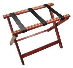 Mahogany Folding Luggage Rack - Detail 1