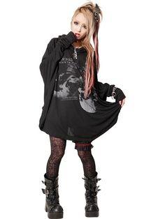FABLE BIG DOLMAN Cutsew | CDJapan. See more at http://www.cdjapan.co.jp/apparel/sexpot.html #punk #japanesefashion