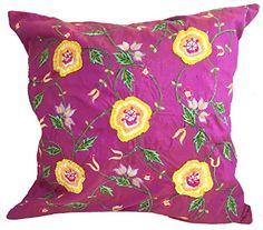 SIA USA Silk Hawaiian Flowers Pillow Cover/Sham, 15.5-Inc... https://www.amazon.com/dp/B0096HIDW0/ref=cm_sw_r_pi_dp_U_x_ma7vAbQQCC8WG