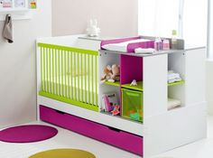 lit bebe combine evolutif multicolore