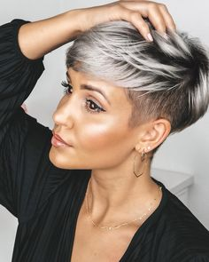 Today we have the most stylish 86 Cute Short Pixie Haircuts. We claim that you have never seen such elegant and eye-catching short hairstyles before. Pixie haircut, of course, offers a lot of options for the hair of the ladies'… Continue Reading → Popular Short Hairstyles, Cute Short Haircuts, Cool Hairstyles, Short Undercut Hairstyles, Black Hair Short Hairstyles, Short Razor Haircuts, Pixie Cut With Undercut, Edgy Pixie Haircuts, Undercut Pixie Haircut