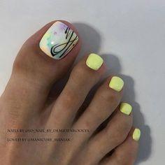 Pretty Toe Nails, Cute Toe Nails, Gorgeous Nails, Diy Nails, Toe Nail Color, Toe Nail Art, Nail Colors, Nail Art Vernis, Summer Toe Nails