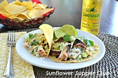 Sunflower Supper Club: Chipotle Grilled Chicken Tacos with Pineapple Slaw