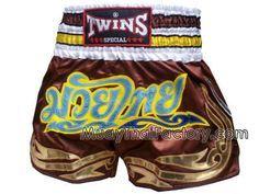Twins Special Muay Thai shorts - MuayThai - BROWN
