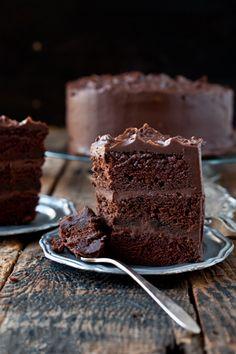 chocolateguru:  Epic Chocolate Stout Cake with Chocolate Bourbon Sour Cream Frosting