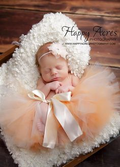 PEACHES AND CREAM tutu with matching by alliballiboutique on Etsy
