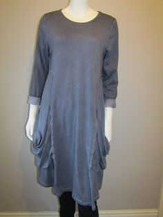 Lagenlook tunic 1983 denim blue