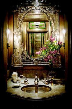 Floral Elegant Restroom