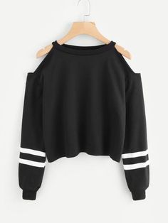 Women Off Shoulder Long Sleeve Sweatshirt Pullover Casual Comfort Solid Color Ropa Mujer Tops… - teen fashion Girls Fashion Clothes, Teen Fashion Outfits, Mode Outfits, Outfits For Teens, Girl Outfits, Teen Clothing, Teens Clothes, Shirts For Teens, High School Clothing