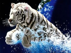 """Choose your favorite from many types of tigers: """"Bengal tiger"""", """"white tiger"""", Tasmanian tiger, golden tiger and others """"animal pictures"""" are waiting to be solved! Description from play.google.com. I searched for this on bing.com/images"""