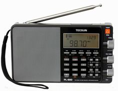 Tecsun PL880 - The Tecsun PL-880 offers features not previously available in a radio of this size and price. As expected, you get full coverage of long wave 100-519 kHz, AM from 520-1710 kHz, shortwave from 1.7-30 MHz and FM from 64-108 MHz. Designed for the serious listener and DXer, you can select four bandwidths in AM mode:  9, 5, 3.5 or 2.3 kHz and five bandwidths in SSB mode: 4, 3, 2.3, 1.2 and 0.5 kHz. A mere 3,050 memories are available.