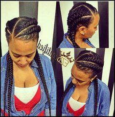 Top 60 All the Rage Looks with Long Box Braids - Hairstyles Trends Latest Braided Hairstyles, Two Braid Hairstyles, Braided Hairstyles For Black Women, African Braids Hairstyles, Black Hairstyles, Two Cornrow Braids, Gorgeous Hairstyles, Hairstyle Ideas, African American Braided Hairstyles