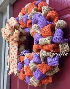 Clemson University Wreath Clemson Tigers Wreath by MsSassyCrafts