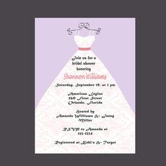 Wedding Shower Invitation Bridal Shower by DigitalDesignsByDawn