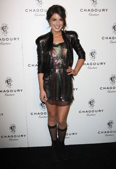 Shenae Grimes in Francesca Miranda #Metallic #Colors #Mini #Dress #Fashion #Style #RedCarpet #BeverlyHills