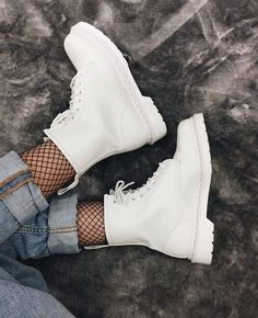 """363 Likes, 3 Comments - Dr.Martens Shop (@martenshop) on Instagram: """"Docs of the day: to be your style with Dr.Martens 1460 Mono White Photo by @bubblegumwhore…"""""""