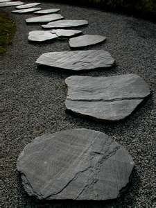 Stepping stones to tranquility.