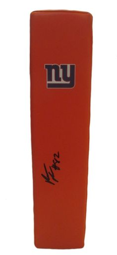 Rueben Randle signed NY Giants Rawlings football touchdown end zone pylon w/ proof photo.  Proof photo of Rueben signing will be included with your purchase along with a COA issued from Southwestconnection-Memorabilia, guaranteeing the item to pass authentication services from PSA/DNA or JSA. Free USPS shipping. www.AutographedwithProof.com is your one stop for autographed collectibles from New York sports teams. Check back with us often, as we are always obtaining new items.