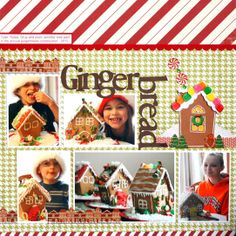 Very rarely do I use stickers on my page these days but I found the cutest little sticker sheet that worked perfectly with the Gingerbread house theme. I made my own little gingerbread house with my cricut and decorated with all those adorable stickers. Scrapbook Layout Sketches, Scrapbook Albums, Scrapbooking Layouts, Couple Scrapbook, Wedding Scrapbook, Disney Scrapbook, Baby Scrapbook, Christmas Scrapbook Layouts, Christmas Layout