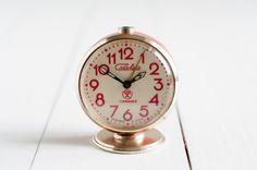 Vintage Alarm Clock - Soviet Clock Slava