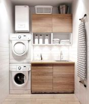 Simple and clean modern laundry room that fit into contemporary homes (55)