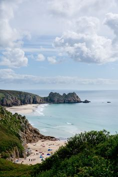 Porthcurno, Cornwall, England. This is wonderful with the Minak theatre beside you on the right!