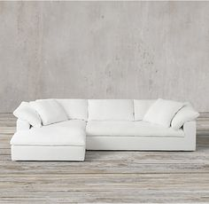 Cloud Track Arm Fabric Chaise Sectional - Like couch. Would sectional fit in Family Room? Restoration Hardware Sectional, Restoration Hardware Cloud, Comfy Sectional, Deep Sectional, Deep Sofa, The Cloud Couch, Clearance Outdoor Furniture, Pallet Sofa, Pallet Benches