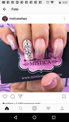 Pink nail color with design Pink Nail Colors, Pink Nails, Galaxy Nails, Dipped Nails, Manicure And Pedicure, Opi, Pretty Nails, Simple Designs, Acrylic Nails