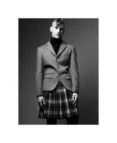 Eric Puzio by William Lords for The Fashionisto Guys In Skirts, Boys Wearing Skirts, Man Skirt, The Fashionisto, Men In Kilts, Costume, Leggings, Modern Man, Comfortable Outfits