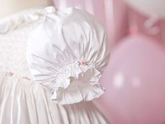 Handmade 'Ruby' Christening Gown in Silk Dupion with by JulieGraue