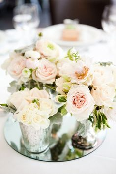 Roses on Mirrors http://www.stylemepretty.com/australia-weddings/2011/12/05/brisbane-wedding-by-karen-buckle-photography/