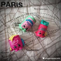 #shopkins in #Paris. #spkfan #shopkinslove #shopkinsworld #moosetoys #bartbeans #breefreshner #fififlour