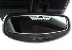 "2010-2012 Camaro - Rear View Mirror Trim ""Camaro"" Style Brushed Oval"