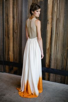 ombre dress    Read more - http://www.stylemepretty.com/2012/10/11/eco-friendly-washington-photo-shoot-from-jasmine-star/