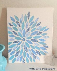 DIY flower canvas art!