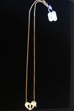 Colar Coração com Pegadas Cod148 S