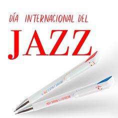 ecocartel.esHoy es el #diainternacionaldeljazz para los amantes de esta música #boligrafospersonalizados a #precioseconómicos #merchandasing International Day Of, Lovers
