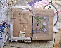 моё вдохновение: Про два древних блокнота для Чая... Journal Paper, Book Journal, Journal Cards, Handmade Journals, Handmade Books, Altered Books, Altered Art, Rustic Books, Stitch Book