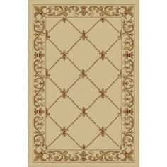 Bliss Rugs Olivet Traditional Area Rug, White
