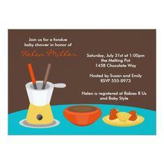 Fondue Party Card